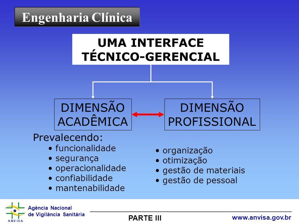 Engenharia Clínica UMA INTERFACE TÉCNICO-GERENCIAL DIMENSÃO ACADÊMICA
