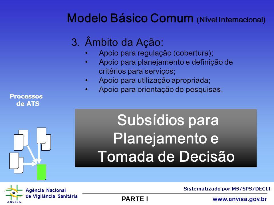 Subsídios para Planejamento e