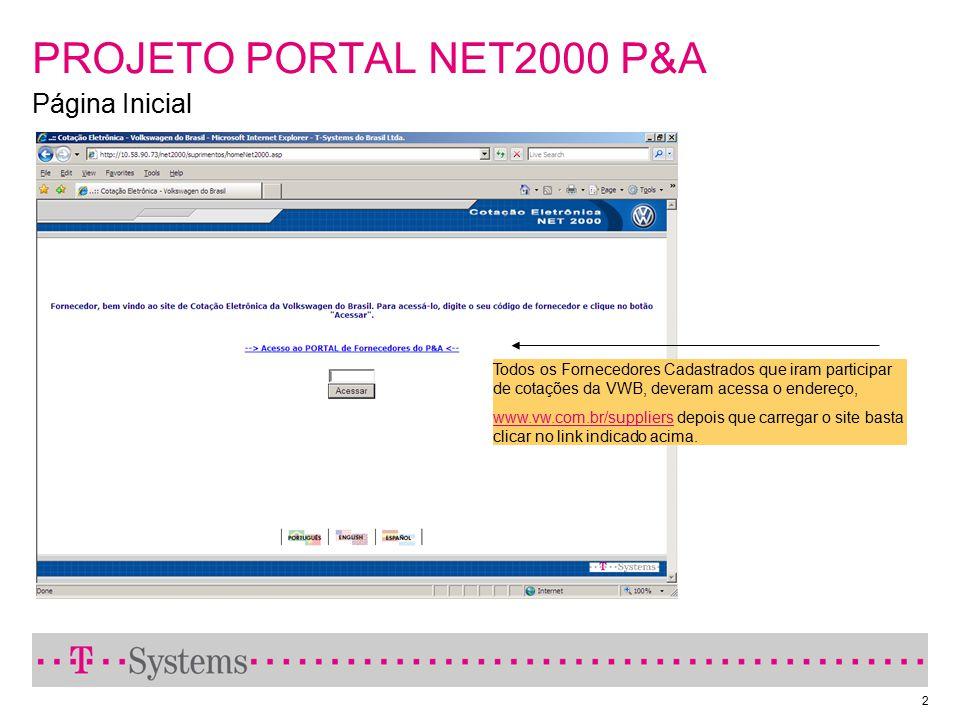 PROJETO PORTAL NET2000 P&A Página Inicial
