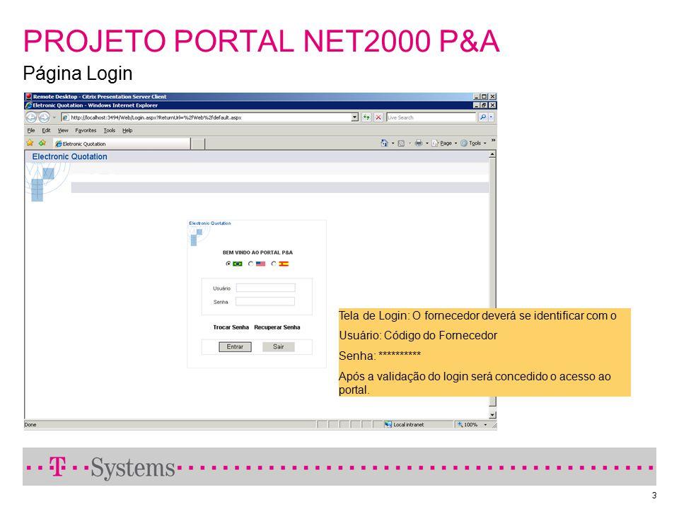 PROJETO PORTAL NET2000 P&A Página Login