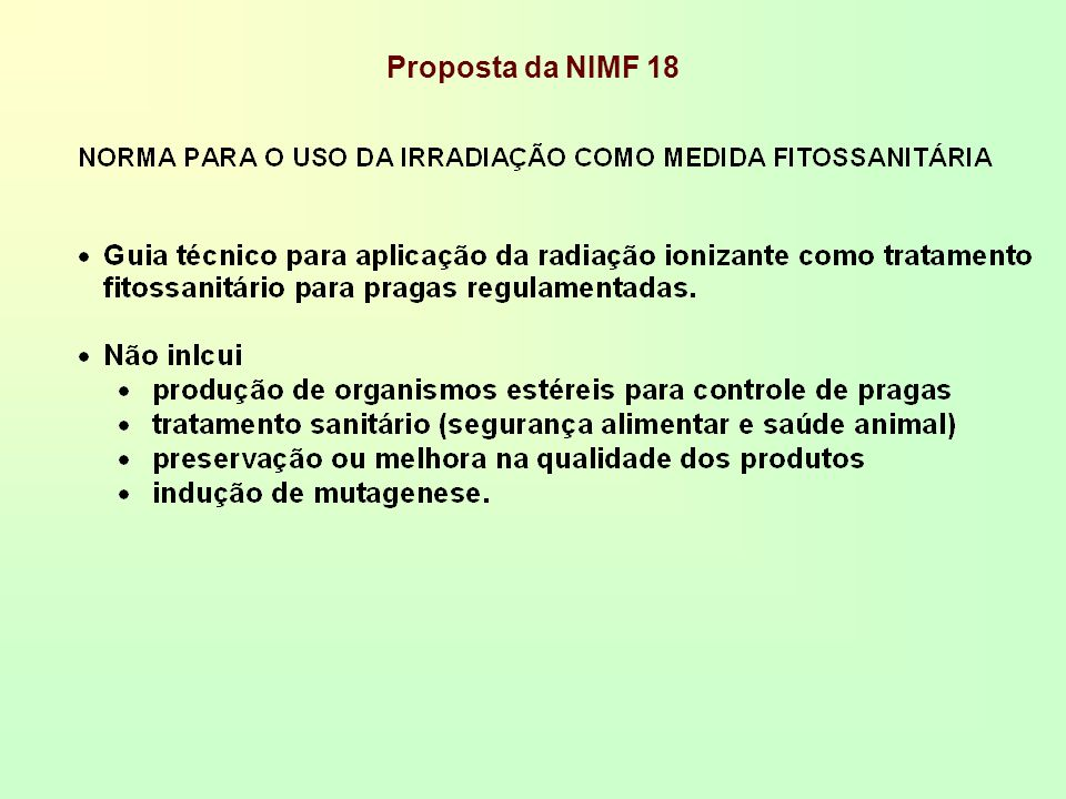 Proposta da NIMF 18