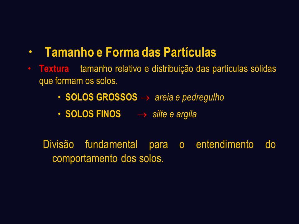 Tamanho e Forma das Partículas