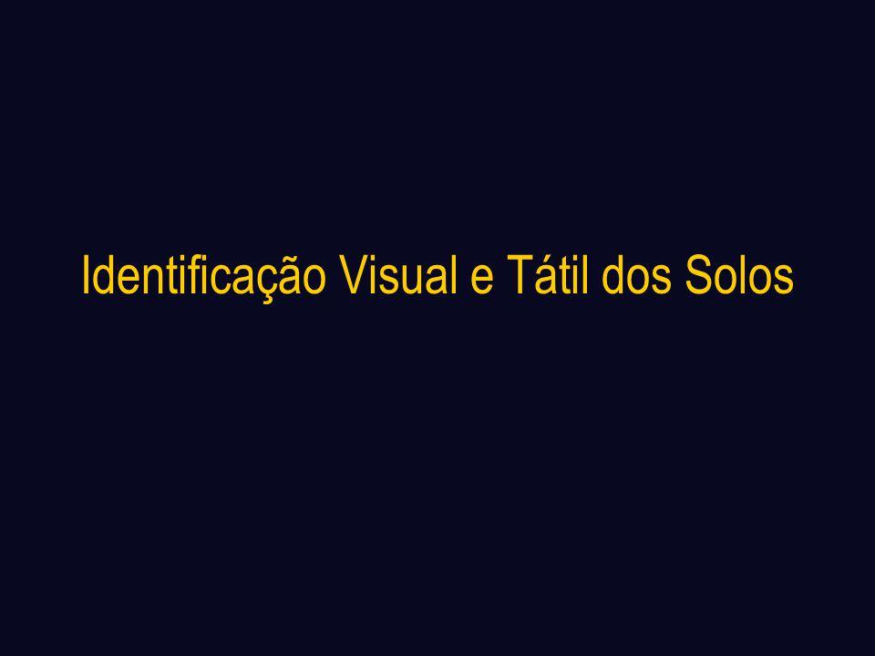 Identificação Visual e Tátil dos Solos