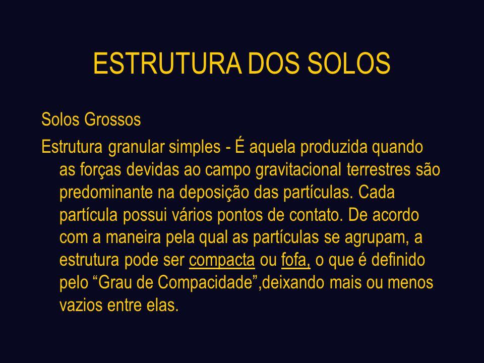ESTRUTURA DOS SOLOS Solos Grossos