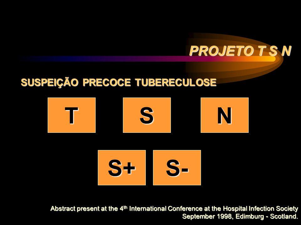 T S N S+ S- PROJETO T S N SUSPEIÇÃO PRECOCE TUBERECULOSE