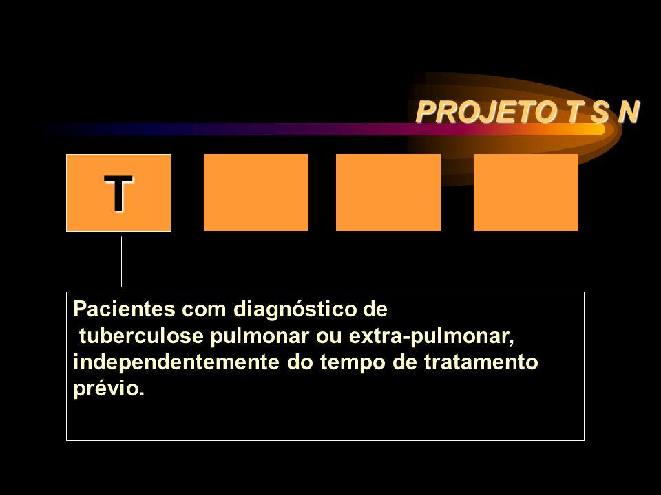 T S+ S- N PROJETO T S N Pacientes com diagnóstico de