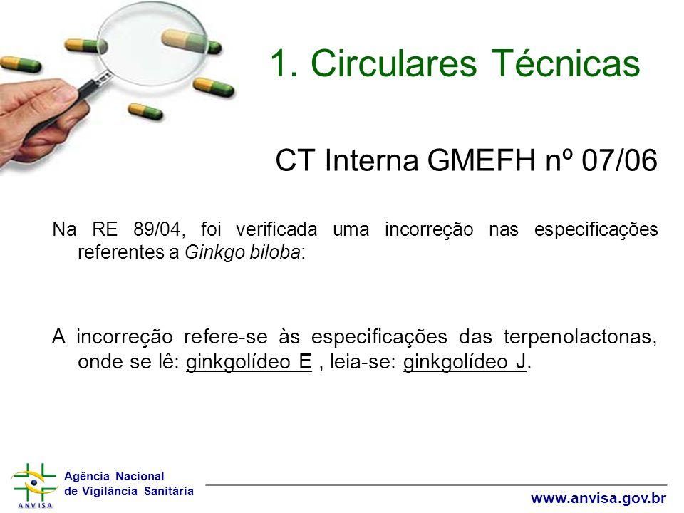 1. Circulares Técnicas CT Interna GMEFH nº 07/06