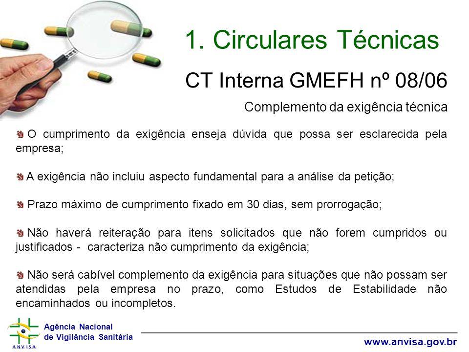 1. Circulares Técnicas CT Interna GMEFH nº 08/06