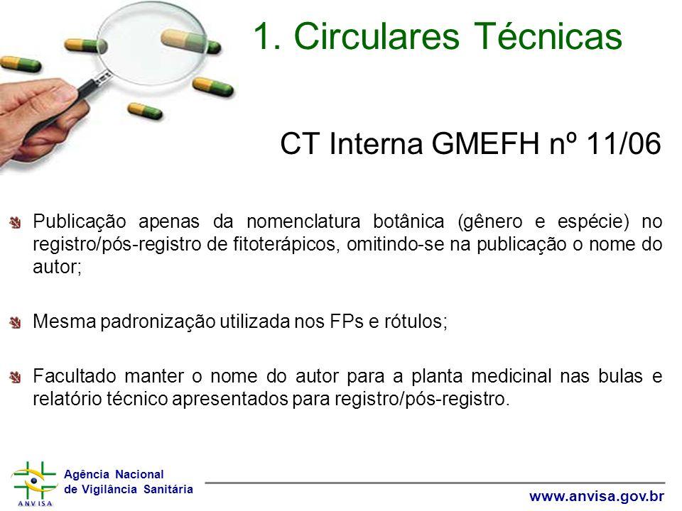 1. Circulares Técnicas CT Interna GMEFH nº 11/06