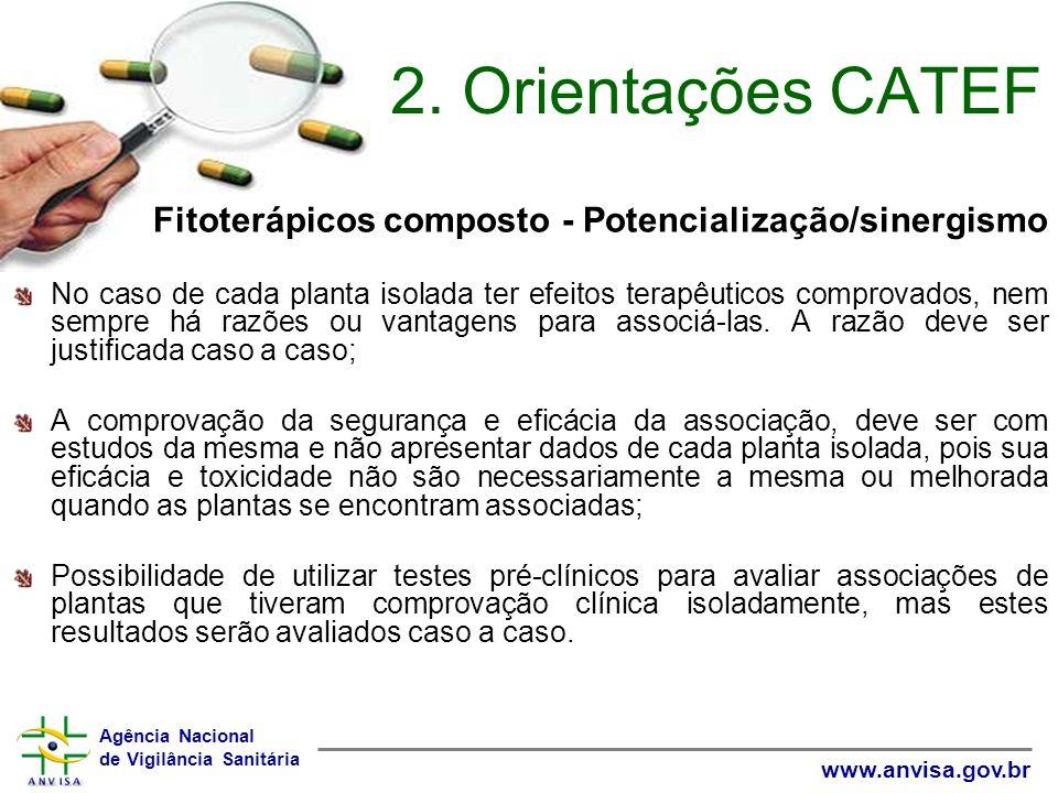 2. Orientações CATEF Fitoterápicos composto - Potencialização/sinergismo.