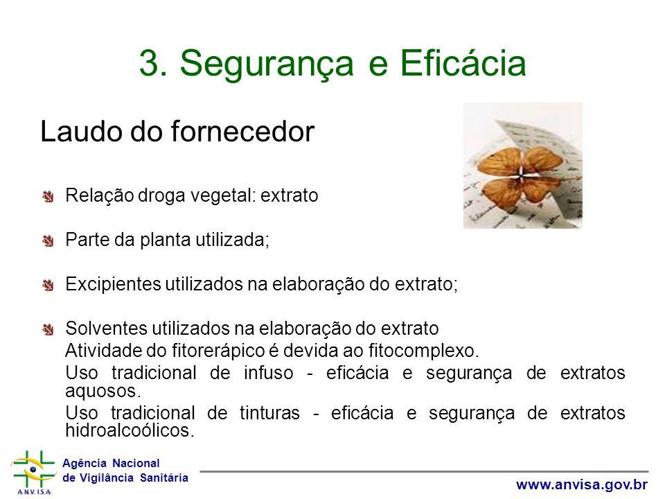 3. Segurança e Eficácia Laudo do fornecedor