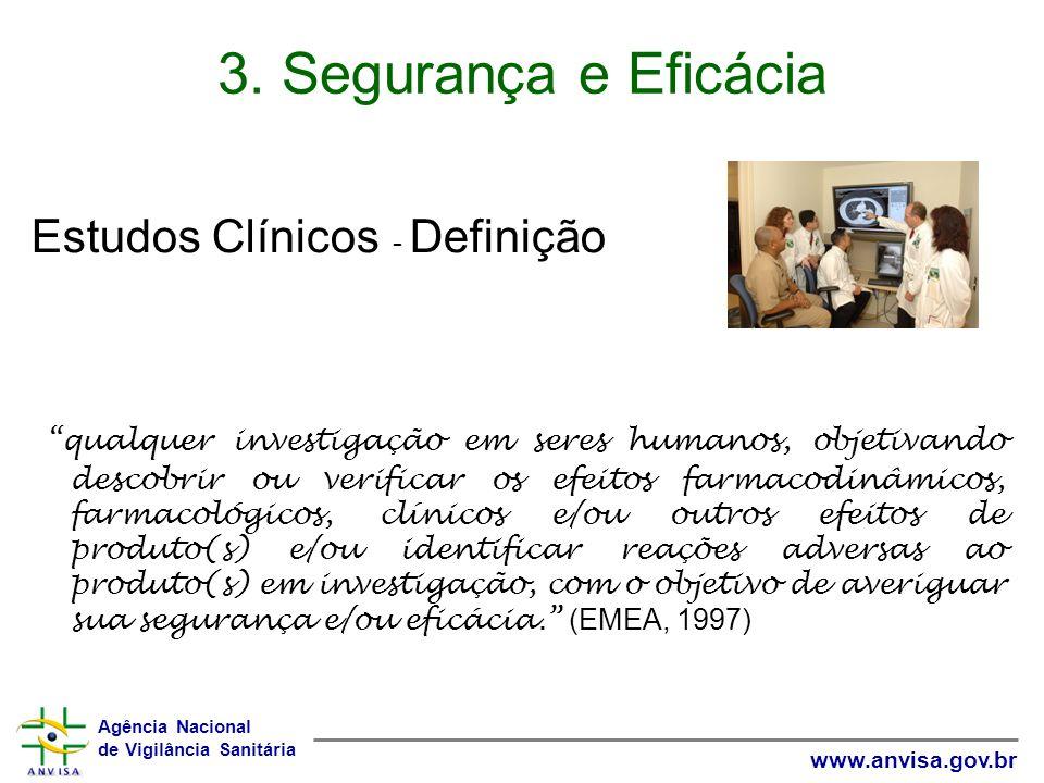 3. Segurança e Eficácia Estudos Clínicos - Definição
