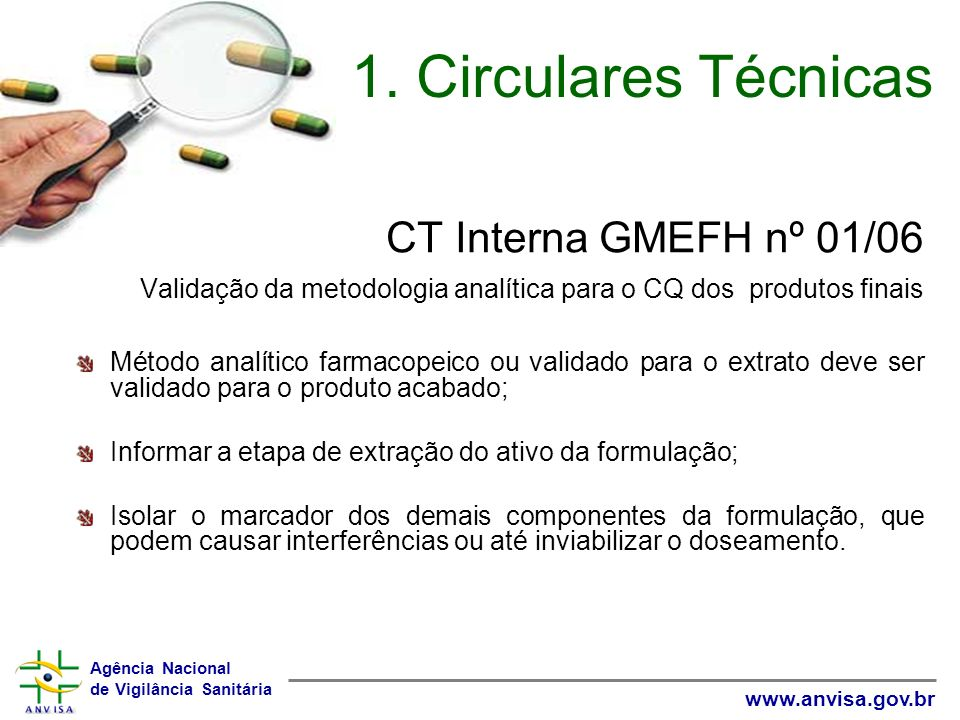 1. Circulares Técnicas CT Interna GMEFH nº 01/06