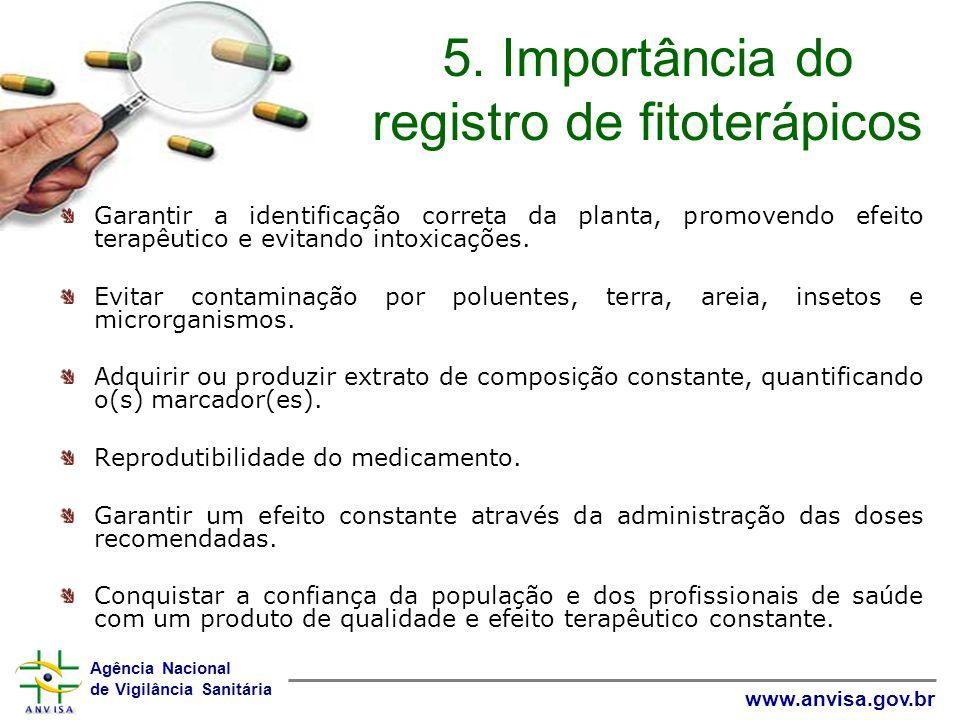 5. Importância do registro de fitoterápicos