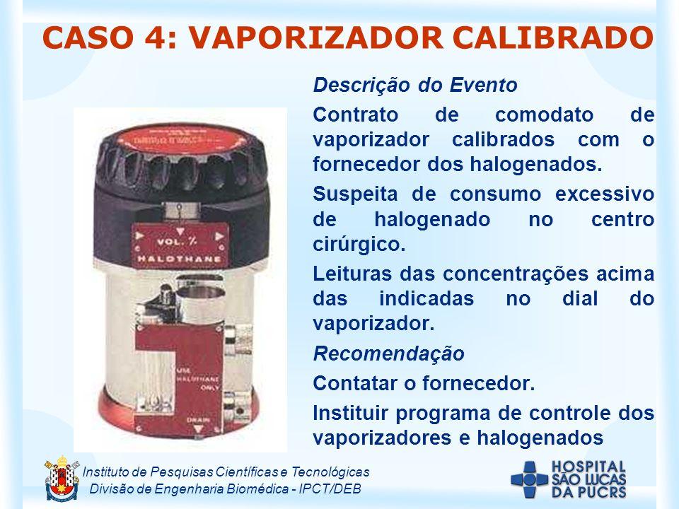 CASO 4: VAPORIZADOR CALIBRADO