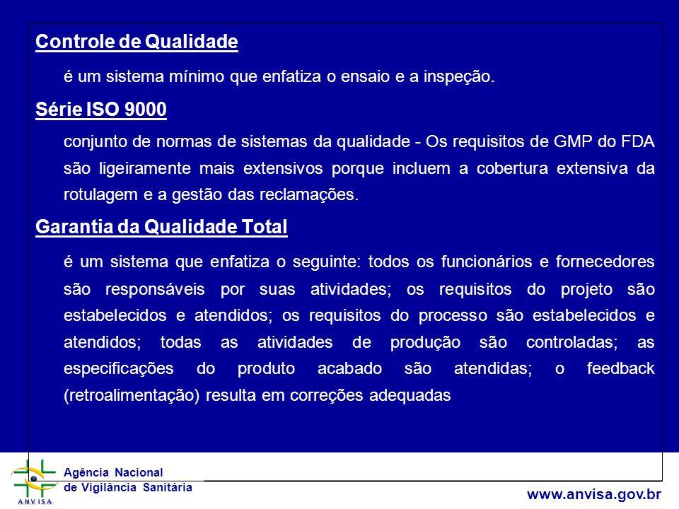 é um sistema mínimo que enfatiza o ensaio e a inspeção. Série ISO 9000