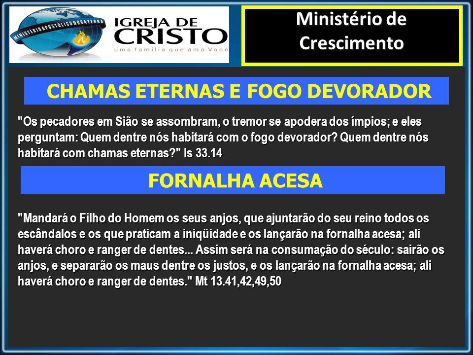 Ministério de Crescimento CHAMAS ETERNAS E FOGO DEVORADOR