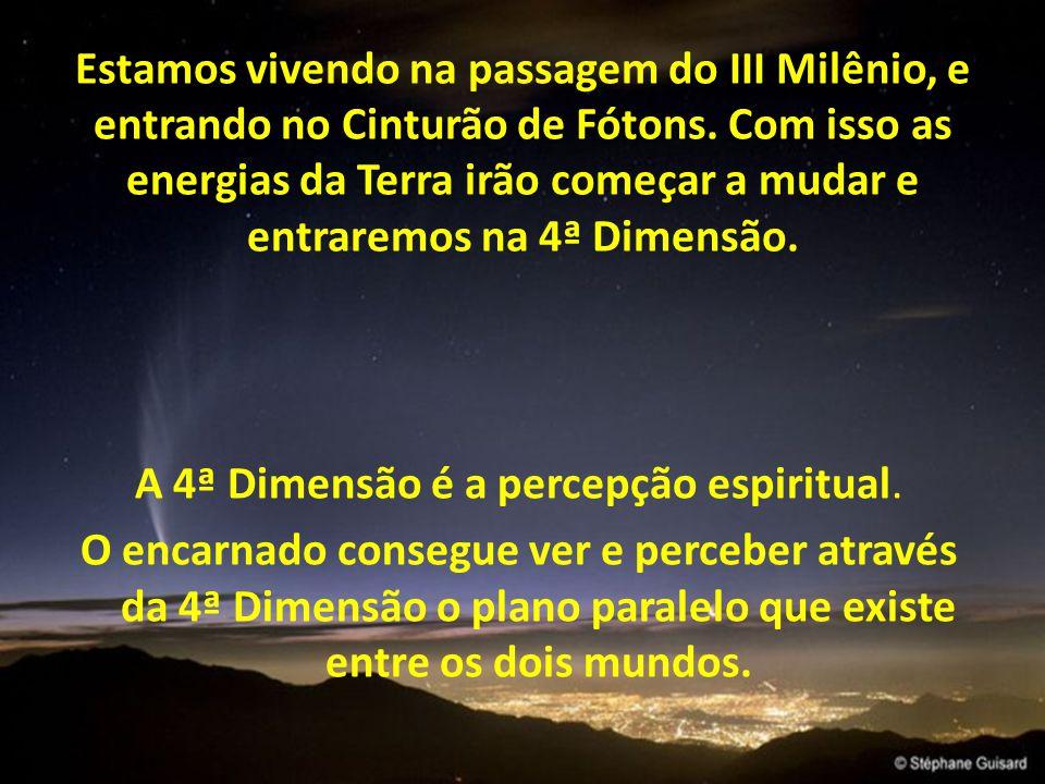 A 4ª Dimensão é a percepção espiritual.
