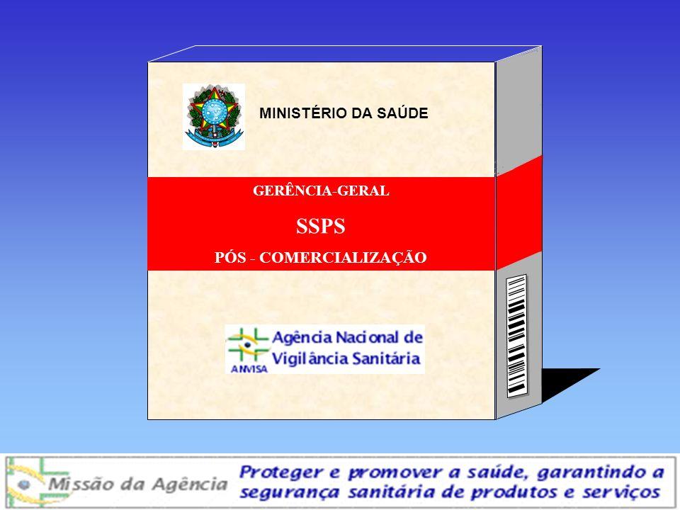 MINISTÉRIO DA SAÚDE GERÊNCIA-GERAL SSPS PÓS - COMERCIALIZAÇÃO