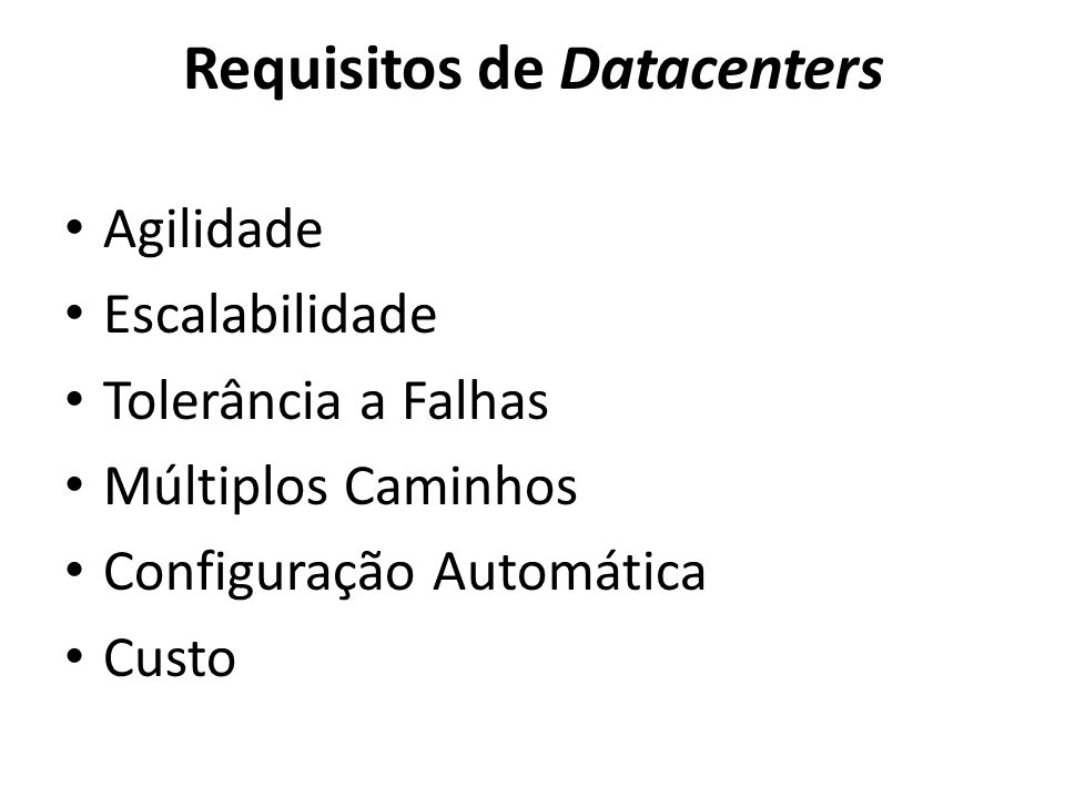 Requisitos de Datacenters