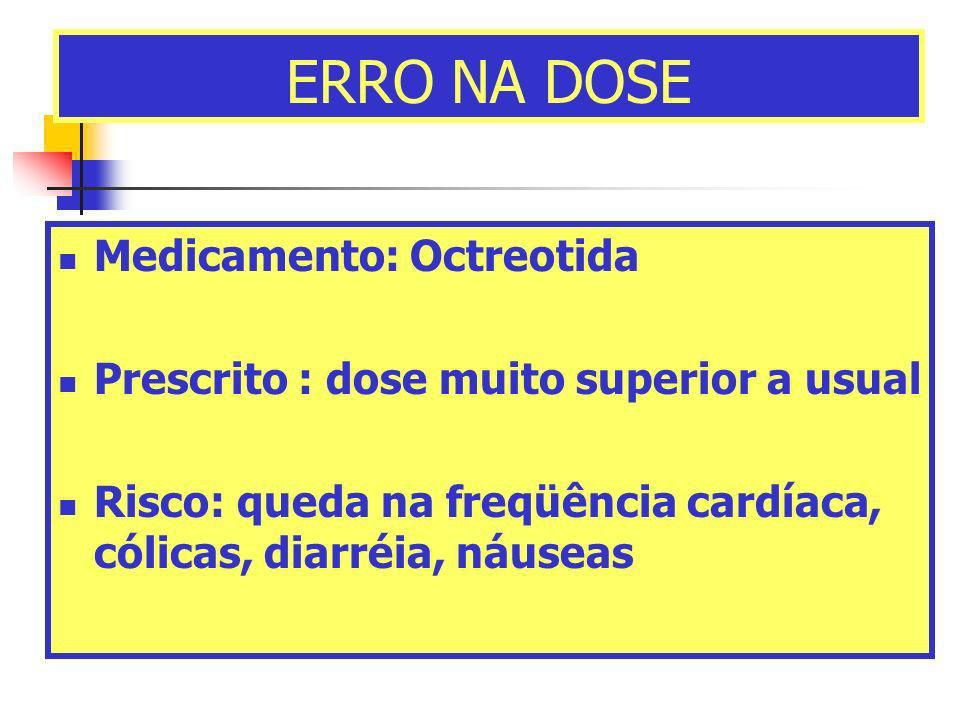 ERRO NA DOSE Medicamento: Octreotida