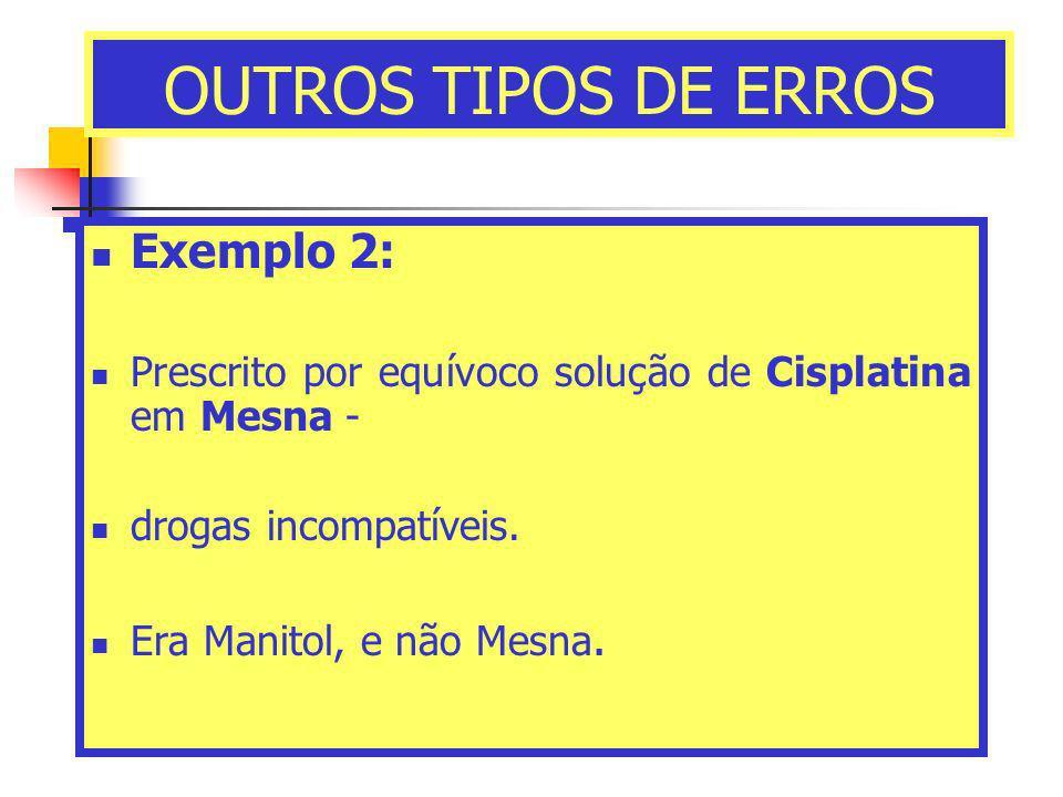 OUTROS TIPOS DE ERROS Exemplo 2: