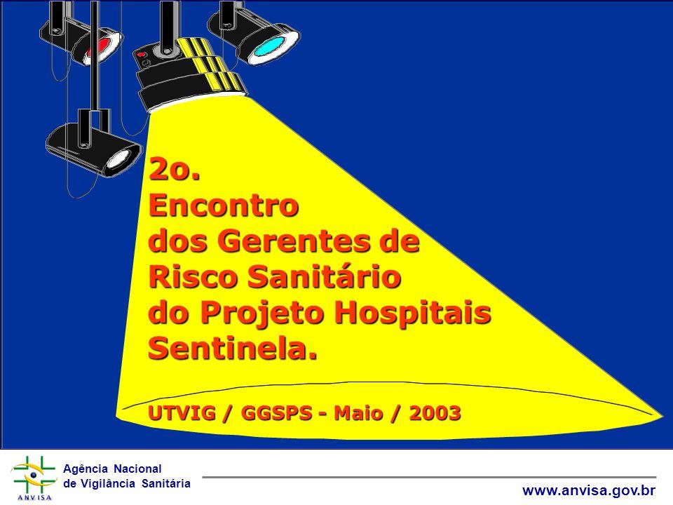2o. Encontro dos Gerentes de Risco Sanitário do Projeto Hospitais Sentinela.