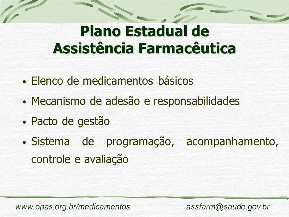 Plano Estadual de Assistência Farmacêutica