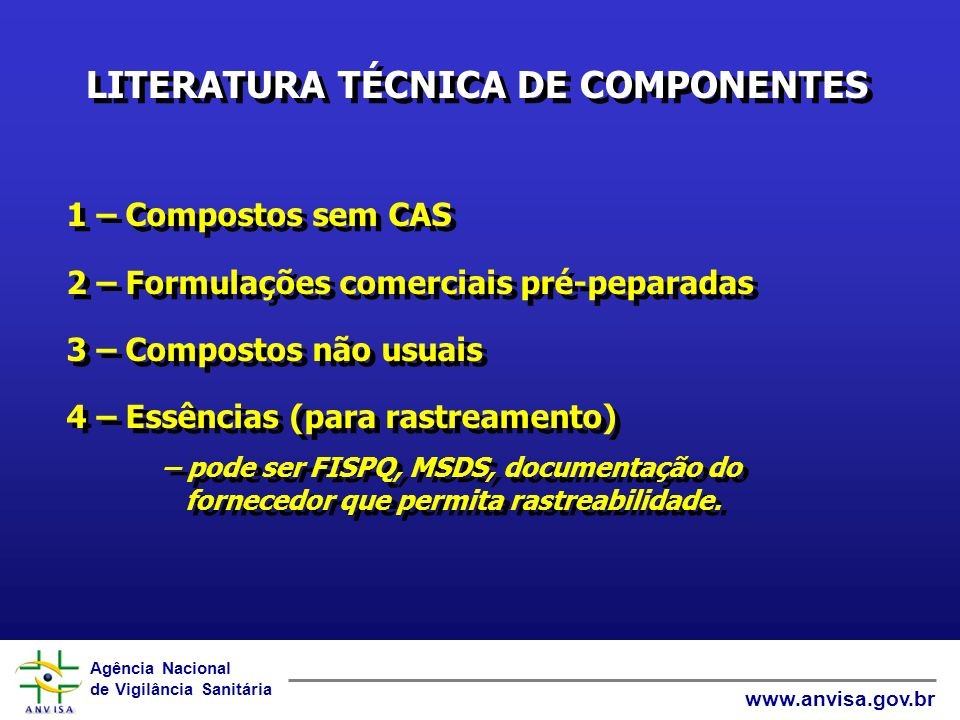 LITERATURA TÉCNICA DE COMPONENTES