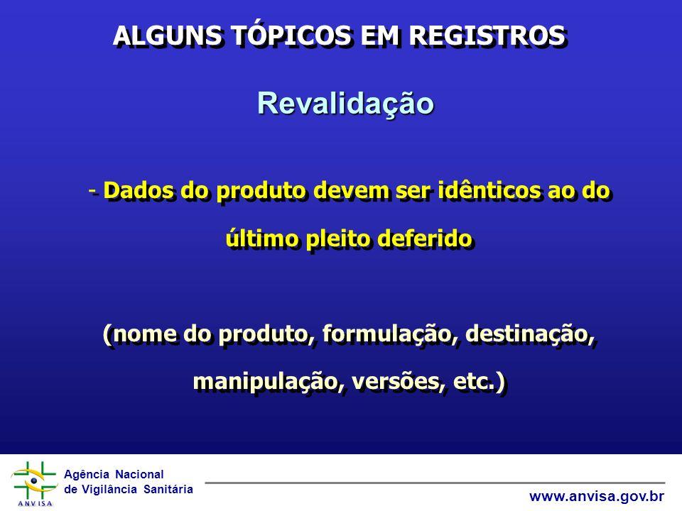 ALGUNS TÓPICOS EM REGISTROS
