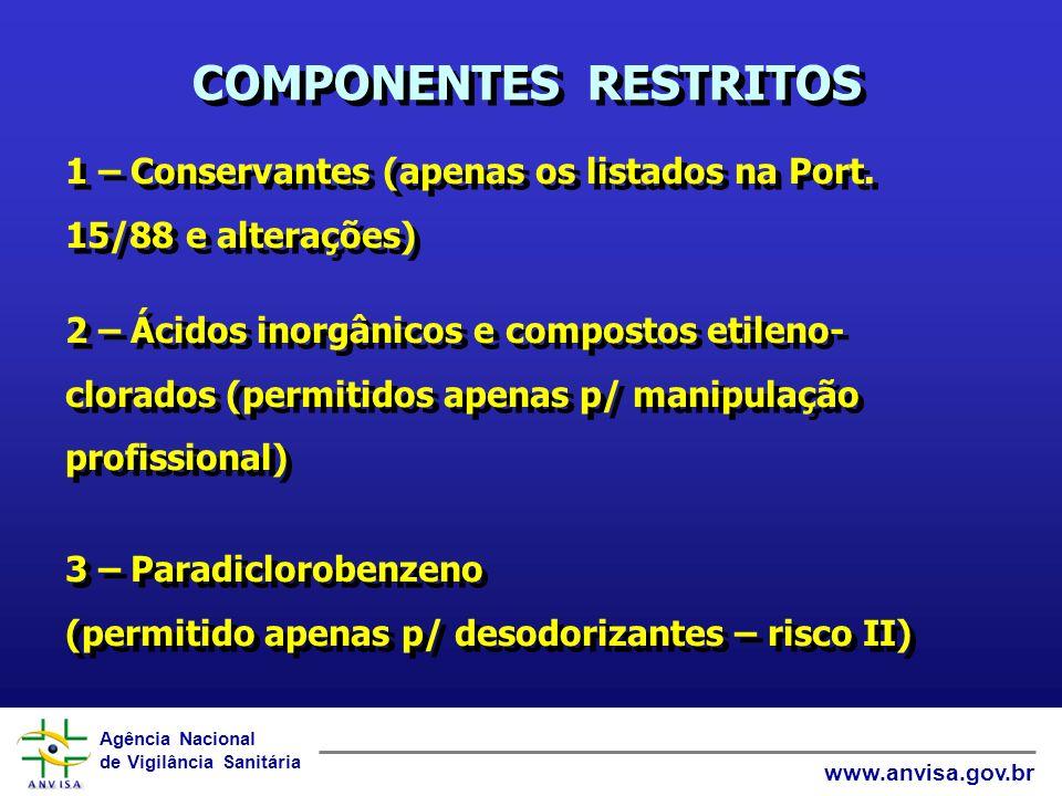 COMPONENTES RESTRITOS
