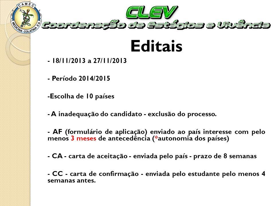 Editais - 18/11/2013 a 27/11/2013 - Período 2014/2015