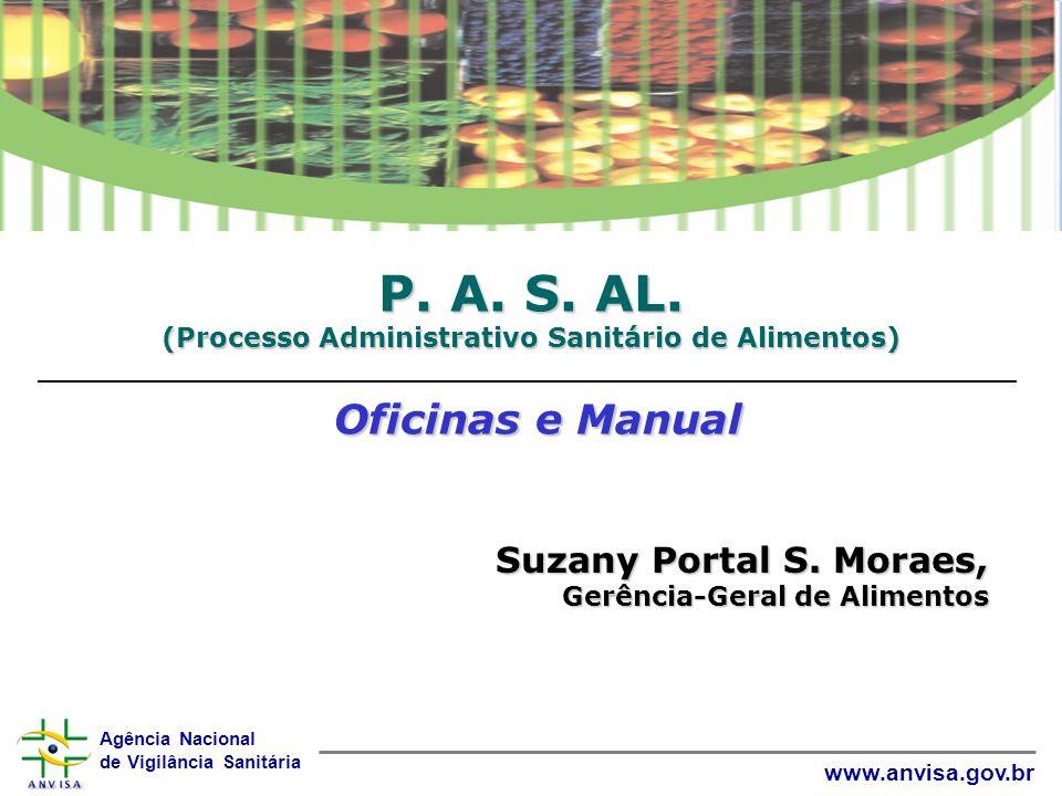 P. A. S. AL. (Processo Administrativo Sanitário de Alimentos) Oficinas e Manual