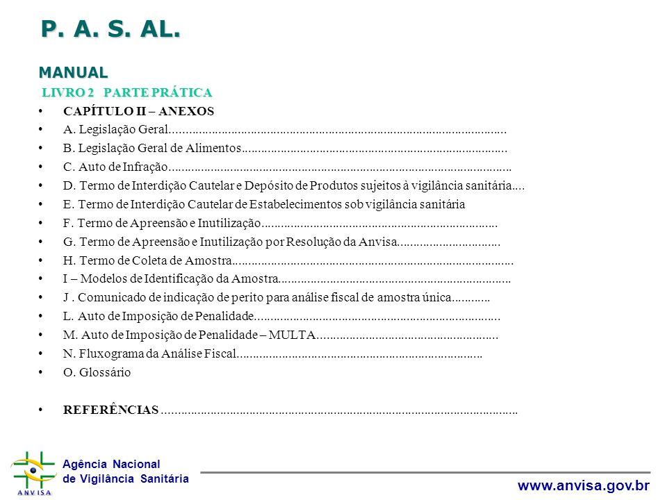 P. A. S. AL. MANUAL LIVRO 2 PARTE PRÁTICA CAPÍTULO II – ANEXOS