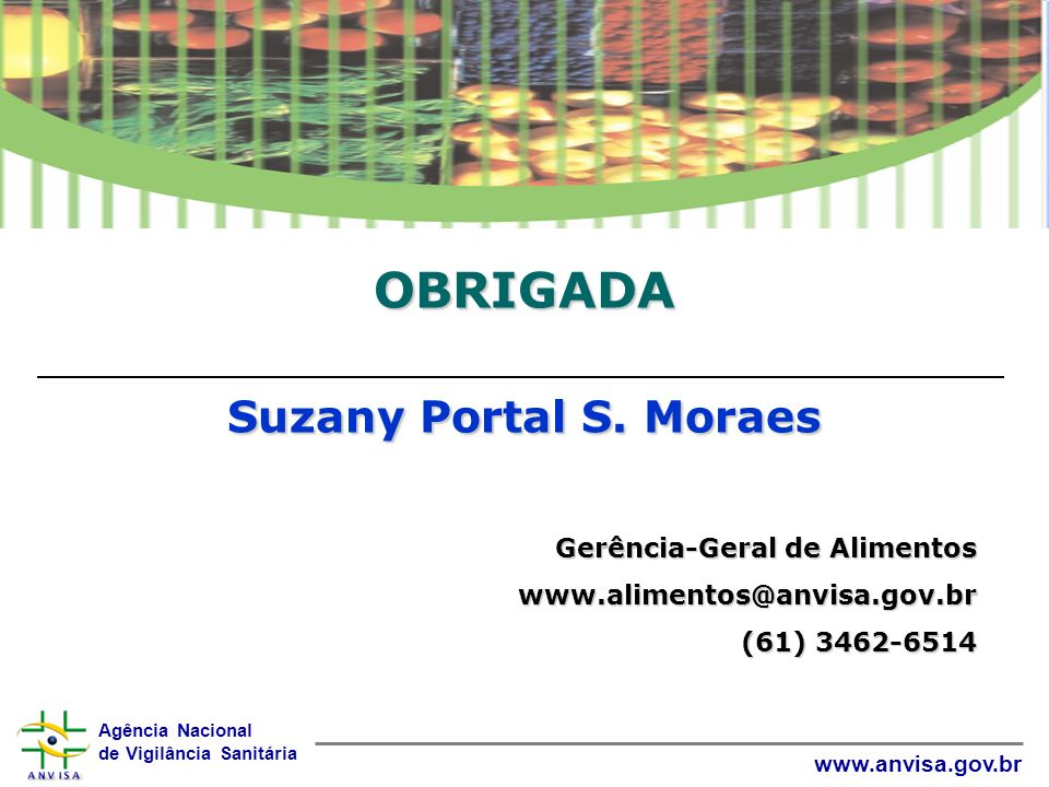 OBRIGADA Suzany Portal S. Moraes