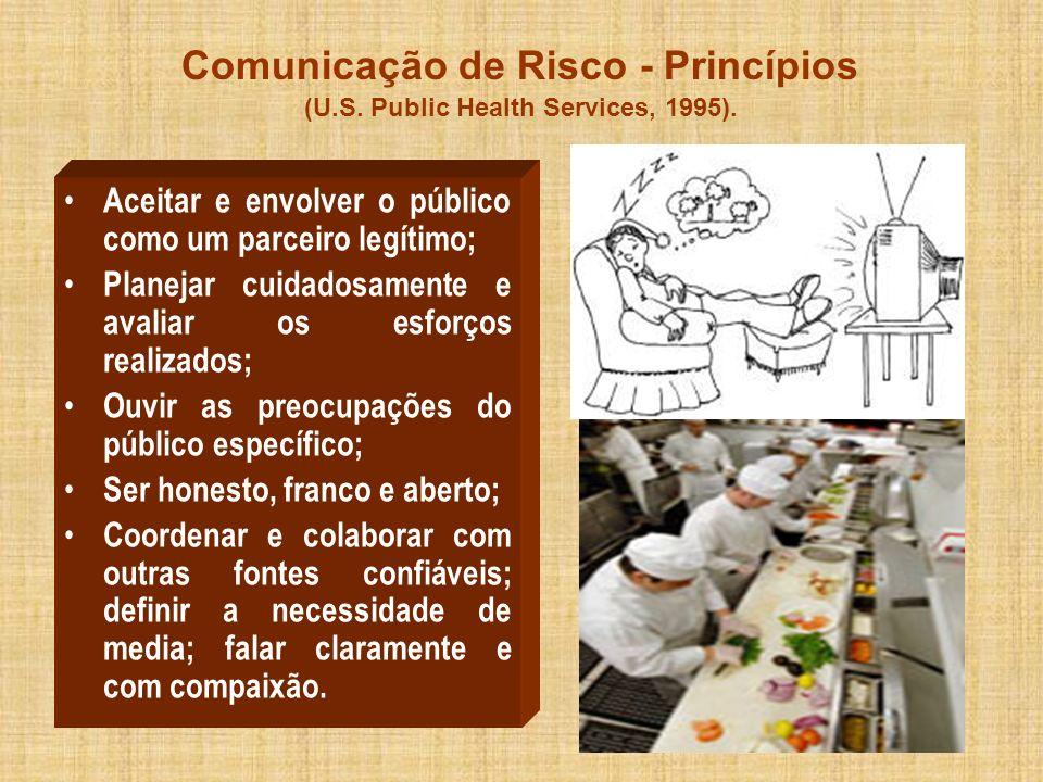 Comunicação de Risco - Princípios (U.S. Public Health Services, 1995).