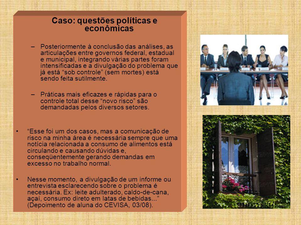 Caso: questões políticas e econômicas
