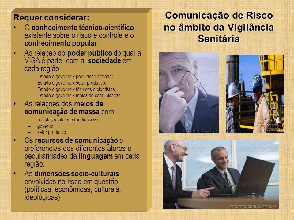 Comunicação de Risco no âmbito da Vigilância Sanitária