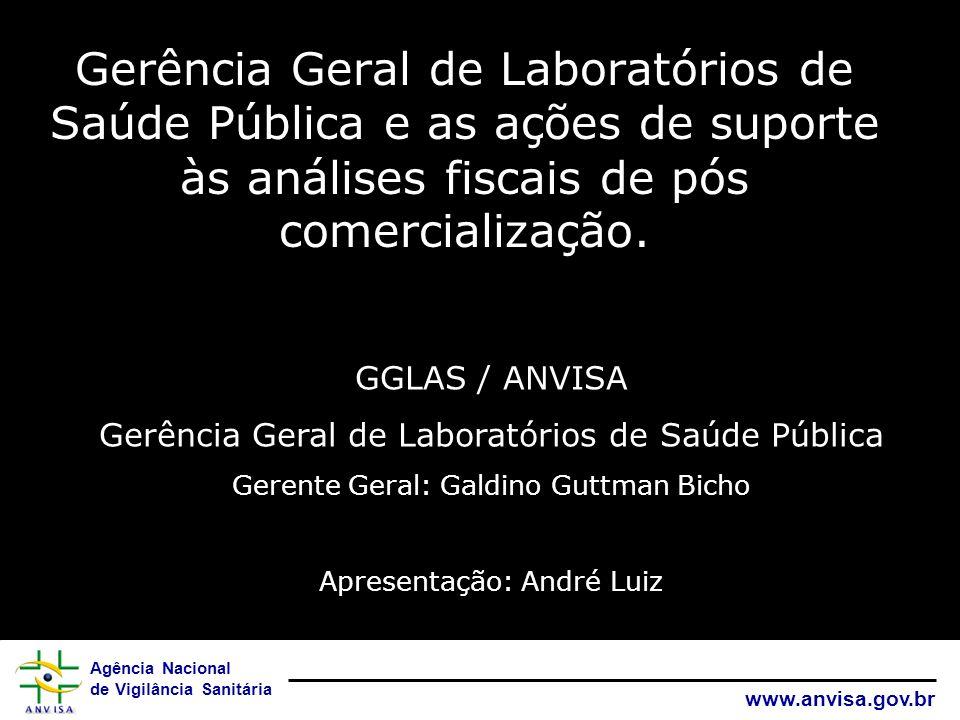 Gerência Geral de Laboratórios de Saúde Pública e as ações de suporte às análises fiscais de pós comercialização.