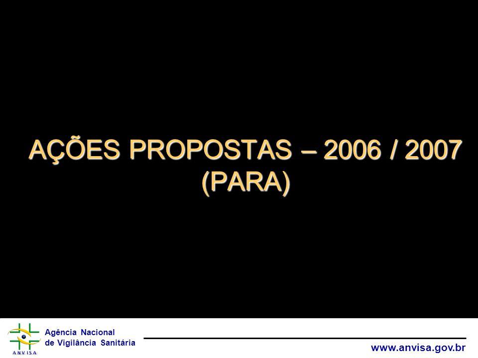AÇÕES PROPOSTAS – 2006 / 2007 (PARA)