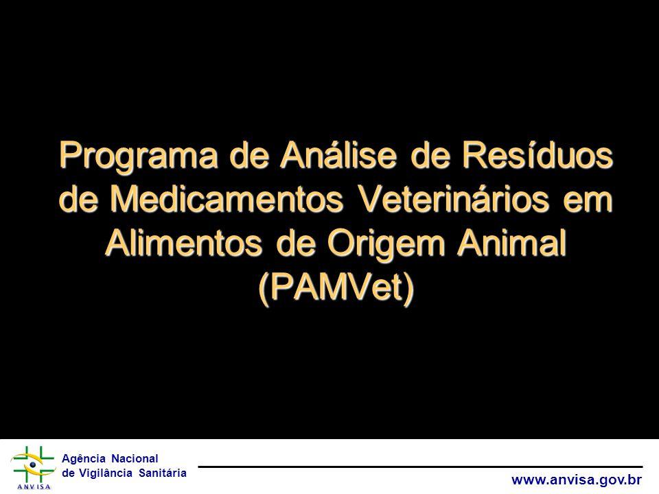Programa de Análise de Resíduos de Medicamentos Veterinários em Alimentos de Origem Animal (PAMVet)