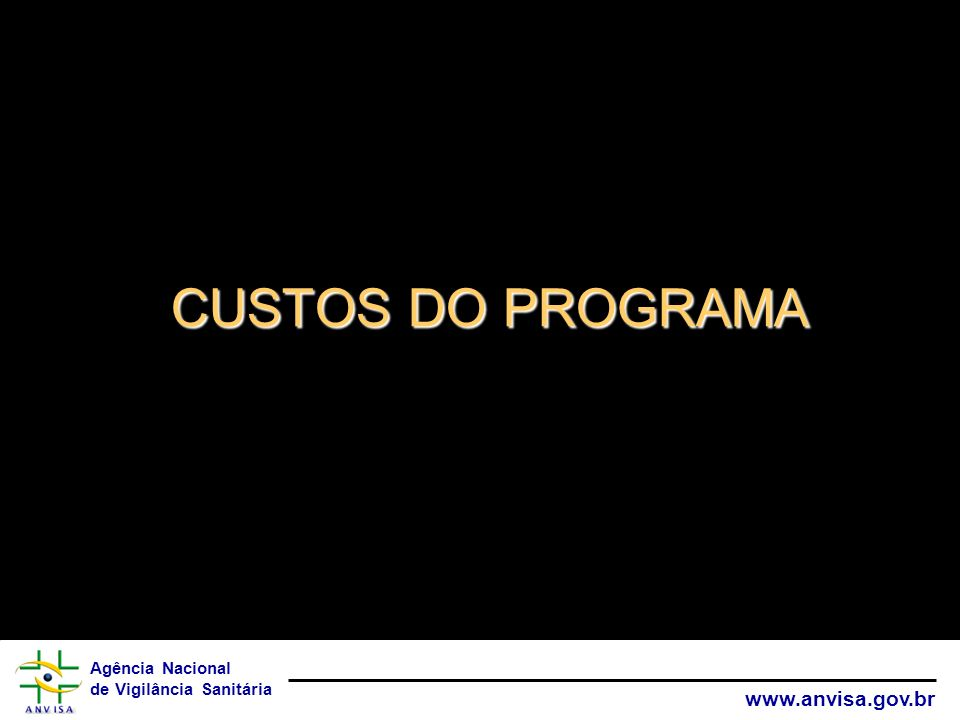 CUSTOS DO PROGRAMA