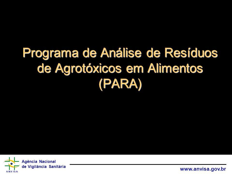 Programa de Análise de Resíduos de Agrotóxicos em Alimentos (PARA)