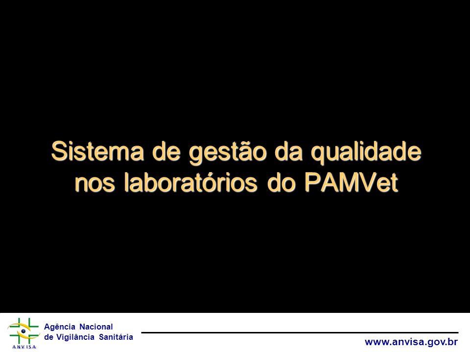 Sistema de gestão da qualidade nos laboratórios do PAMVet