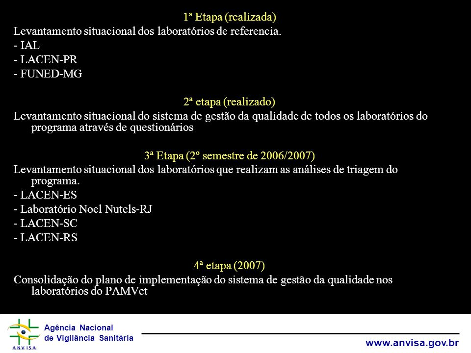 3ª Etapa (2º semestre de 2006/2007)