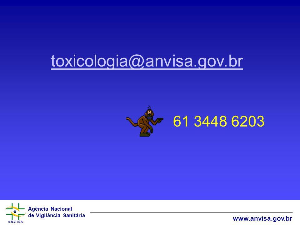 toxicologia@anvisa.gov.br 61 3448 6203