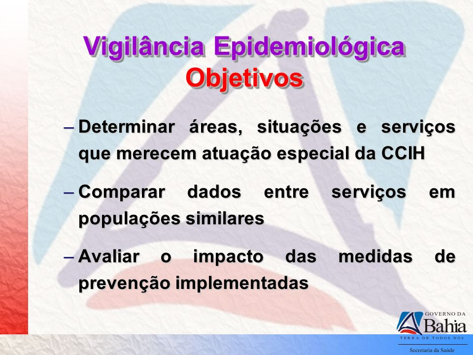 Vigilância Epidemiológica Objetivos