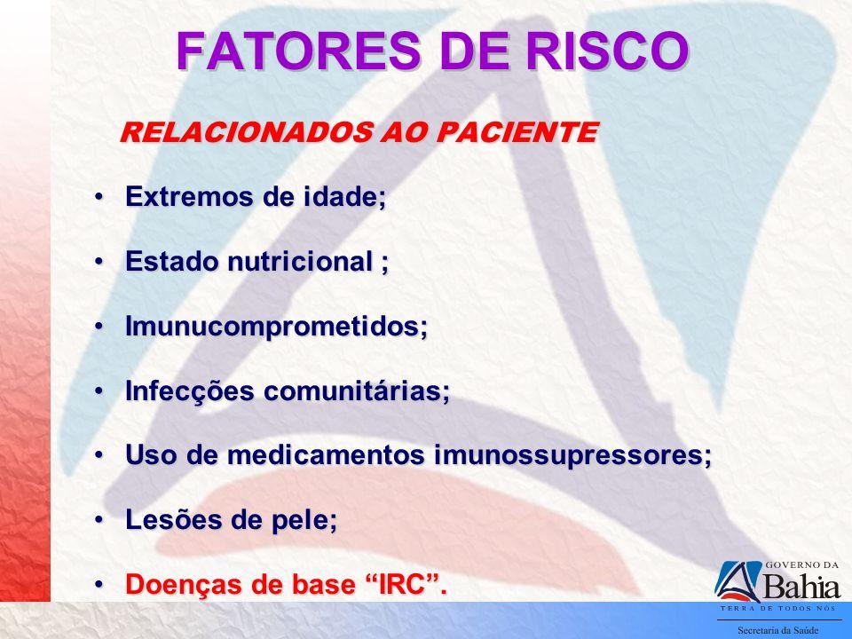 FATORES DE RISCO Extremos de idade; Estado nutricional ;