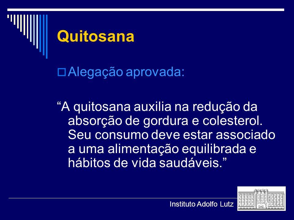 Quitosana Alegação aprovada: