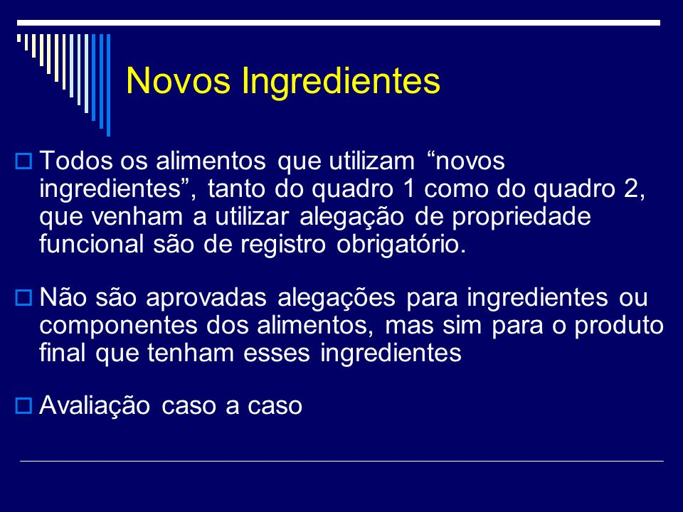Novos Ingredientes